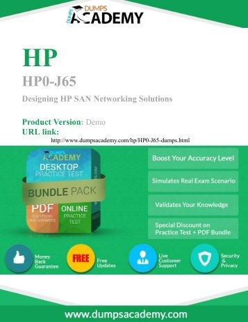 100% passing guarantee on HP0-J65 Exam to Success in career