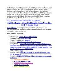 Mail It Plugin Review and $30000 Bonus - Mail It Plugin 80% DISCOUNT