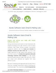 Buy Aorato Software Vendors List from Span Global Services