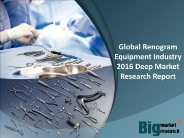 Global Renogram Equipment Industry 2016 Deep Market Research Report