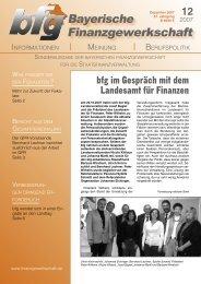 bfg wendet sich in einer Eingabe an den Bayerischen Landtag