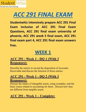 acc 330 final exam 1 Uop courses menu skip to content home course new store  acc 291 week 1 practice:  acc 291 week 5 final exam.