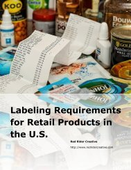 Labeling Requirements for Retail Products in the U.S.