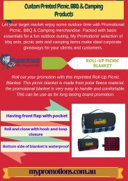 Purchase Promotional Camping Products from My Promotions