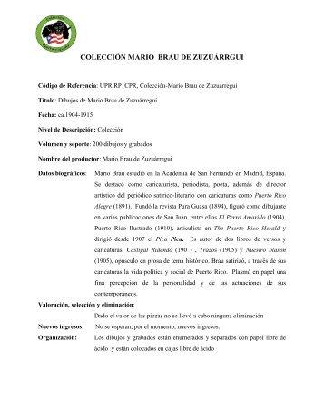COLECCIÓN MARIO BRAU DE ZUZU ÁRRGUI