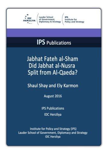 Jabhat Fateh al-Sham Did Jabhat al-Nusra Split from Al-Qaeda?