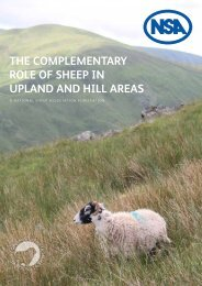 THE COMPLEMENTARY ROLE OF SHEEP IN UPLAND AND HILL AREAS