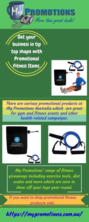 Promotional Fitness Items - My Promotions Australia