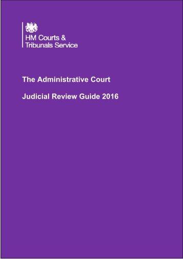The Administrative Court Judicial Review Guide 2016