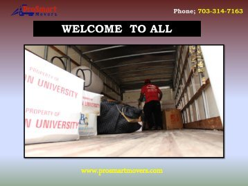 Office Moving Services Virginia| ProSmart Movers
