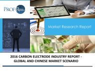 2016 CARBON ELECTRODE INDUSTRY REPORT - GLOBAL AND CHINESE MARKET SCENARIO