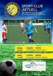 Sport Club Aktuell - Ausgabe 30 - 12.08.2016 - SSVg 09/12 Heiligenhaus