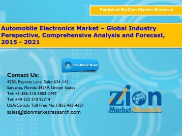 Automobile Electronics Market – Global Industry Perspective, Comprehensive Analysis and Forecast, 2015 - 2021