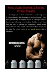 Some Useful Benefits of Buying Protein Powder