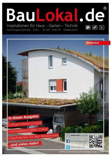BauLokal.de Westerwald Sommerausgabe 3/2016