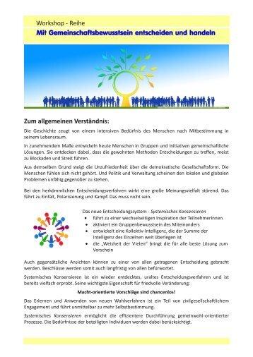 Workshopreihe Systemisch Konsensieren