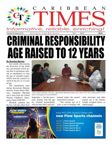 Caribbean Times 67th Issue - Tuesday 9th August 2016