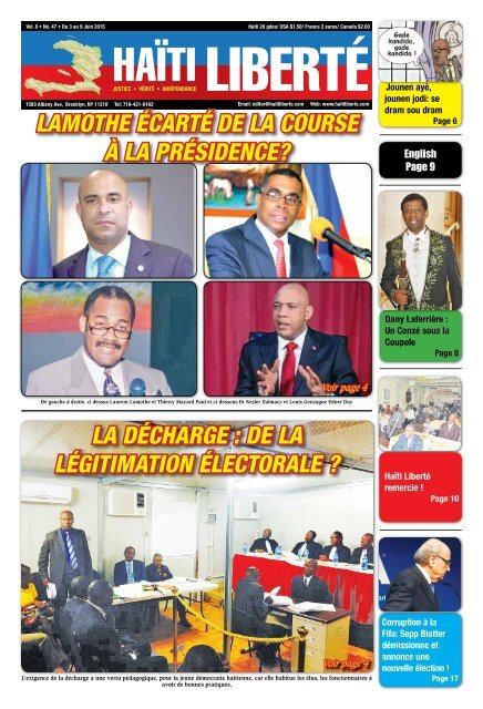 Haiti Liberte 3 Juin 2015