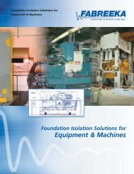 Foundation Isolation Solutions for Equipment & Machines - Fabreeka