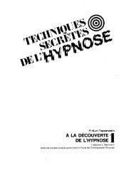 Techniques Secrètes de l'Hypnose _ volume 1