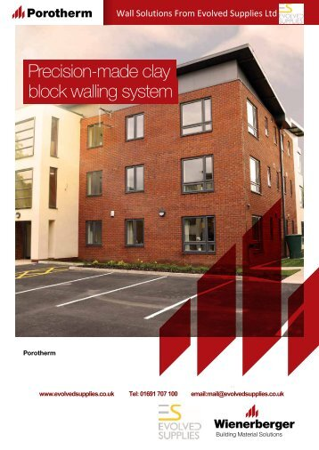 Evolved Supplies -Wienerberger_Porotherm_Brochure rev 1