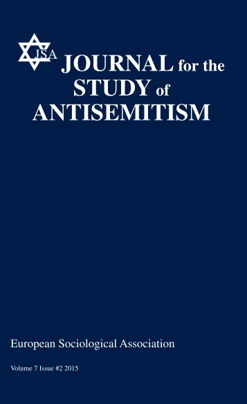 JOURNAL STUDY ANTISEMITISM
