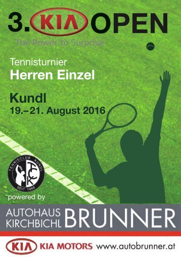 3. KIA OPEN Tennisturnier in Kundl