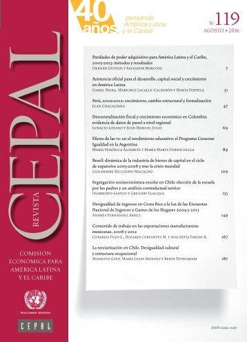Revista CEPAL Nº119
