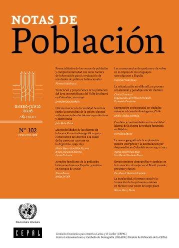 Notas de Población  N°102