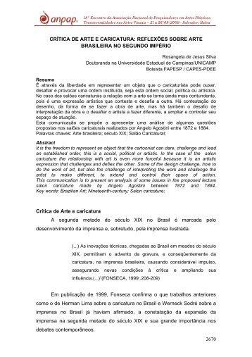 2670 CRÍTICA DE ARTE E CARICATURA: REFLEXÕES ... - Anpap
