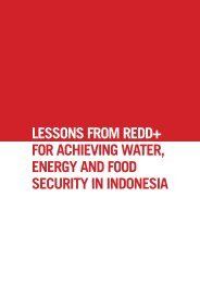 LESSONS FROM REDD+ FOR ACHIEVING WATER ENERGY AND FOOD SECURITY IN INDONESIA