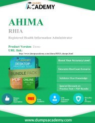 Practice RHIA Exam Easily with Questions and Answers PDF