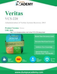 Practice VCS-220 Exam Easily with Questions and Answers PDF
