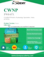 PW0-071 Exam - 100% Passing Guarantee with latest Demo