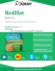 RH133 Exam - 100% Passing Guarantee with latest Demo