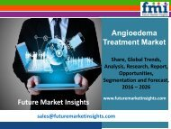 Angioedema Treatment Market Growth, Trends and Value Chain 2016-2026 by FMI