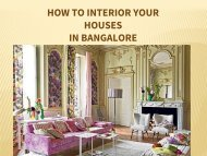 Home decor your house in Bangalore