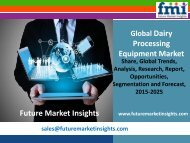 Dairy Processing Equipment Market Growth and Segments,2015-2025