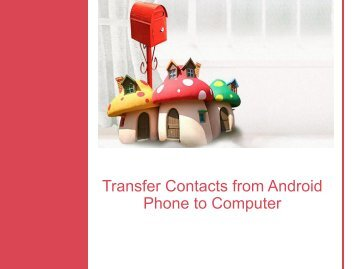 Transfer Contacts from Android Phone to Computer