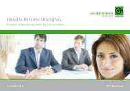 Seminarprogramm für Unternehmen 2016