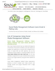 Social Media Management Software Customer Lists is constantly updated to ensure accuracy and quality