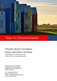 Tipps für Privatverkäufer - Thorsten Wowra Immobilien