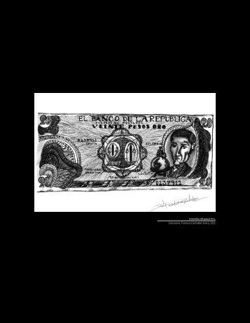 Colombia 20 pesos Oro, Caricatura, Francisco González Acero, 2011