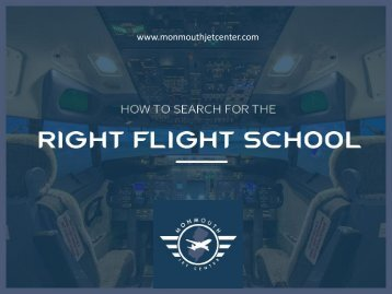 How to Search for the Right Flight School