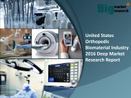 United States Orthopedic BiomaterialIndustry 2016 Report & Research