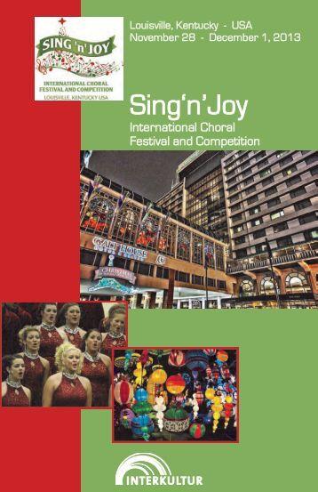Sing'n'Joy Louisville 2013 - Program Book