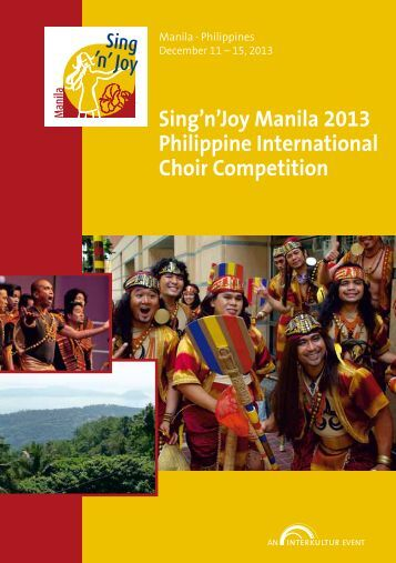 Sing'n'Joy Manila 2013 - Program Book