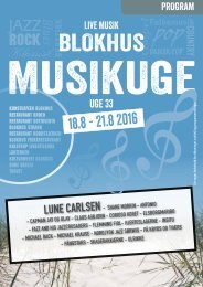 Blokhus Musikuge 2016 Program