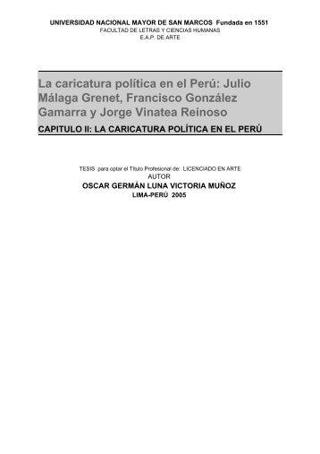 La caricatura política en el Perú: Julio Málaga Grenet, Francisco ...