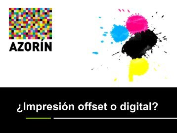 Impresion Offset vs Digital